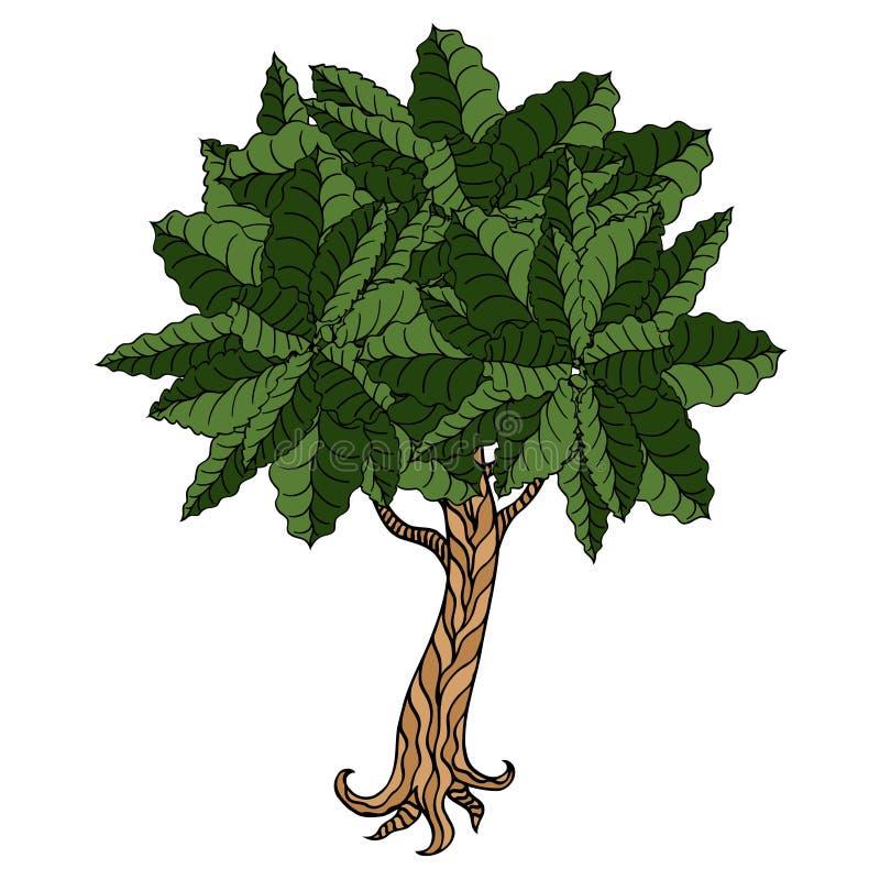 留下结构树 皇族释放例证
