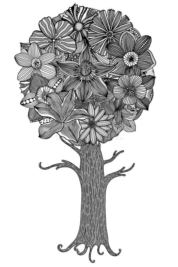 留下结构树 向量例证