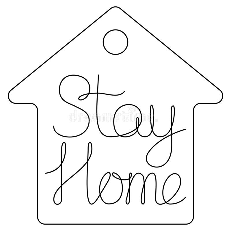 留在家中字母隔离隔离隔离概念 库存例证