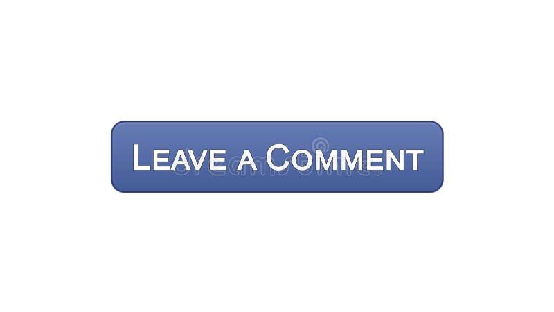 留给评论网接口按钮紫罗兰色颜色,客户反馈查询表 库存例证