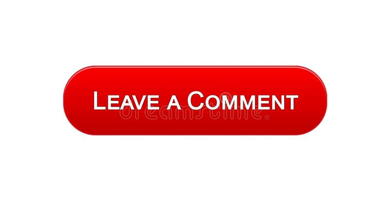 留给评论网接口按钮红颜色,客户反馈,查询表 皇族释放例证