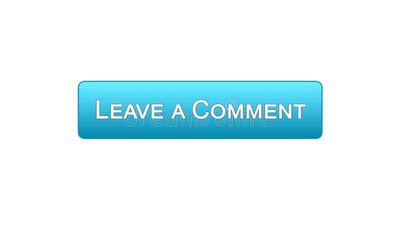 留给评论网接口按钮蓝色颜色,客户反馈,查询表 库存例证