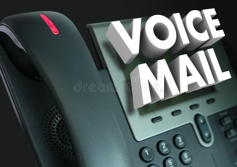 留言3d措辞电话记录的消息 皇族释放例证