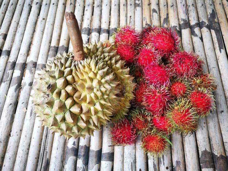 留连果和红毛丹甜和可口是果子的国王 图库摄影