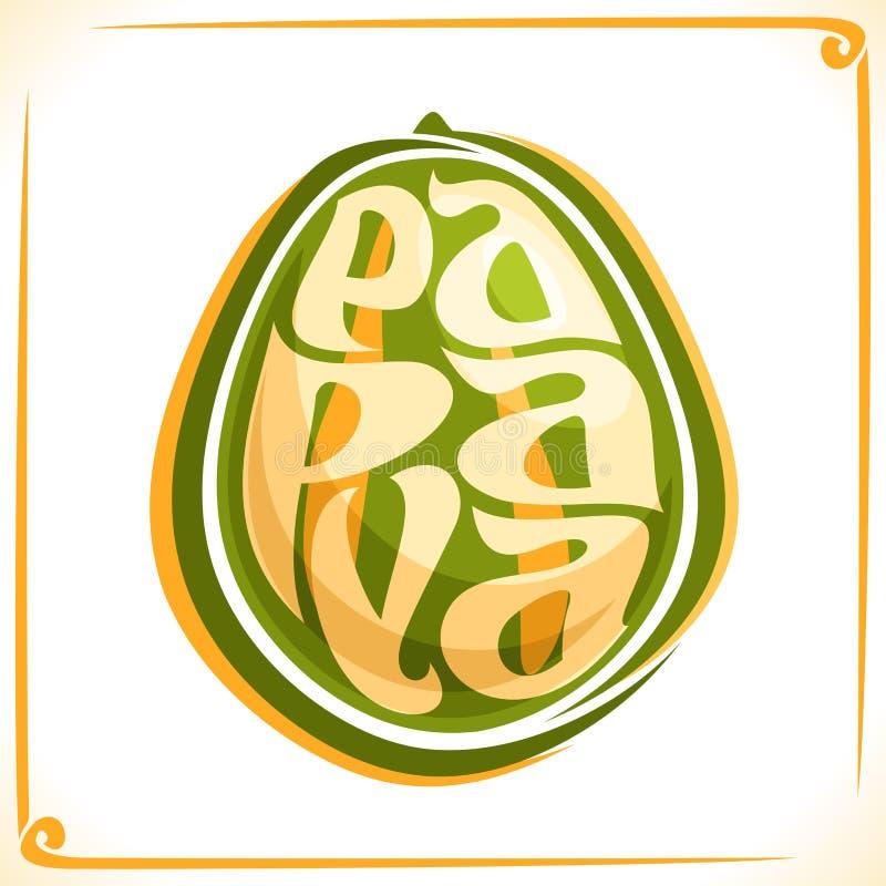 番木瓜的传染媒介商标 皇族释放例证