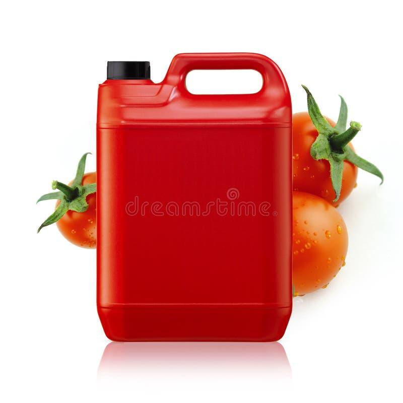 番茄酱加仑 库存图片