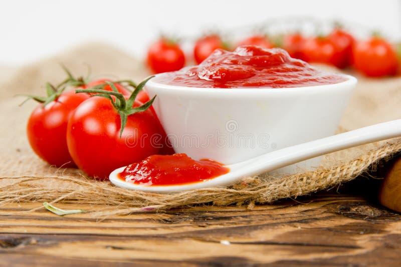 番茄酱用蕃茄 免版税库存图片