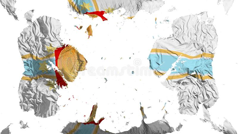 疏散第比利斯市旗子 向量例证