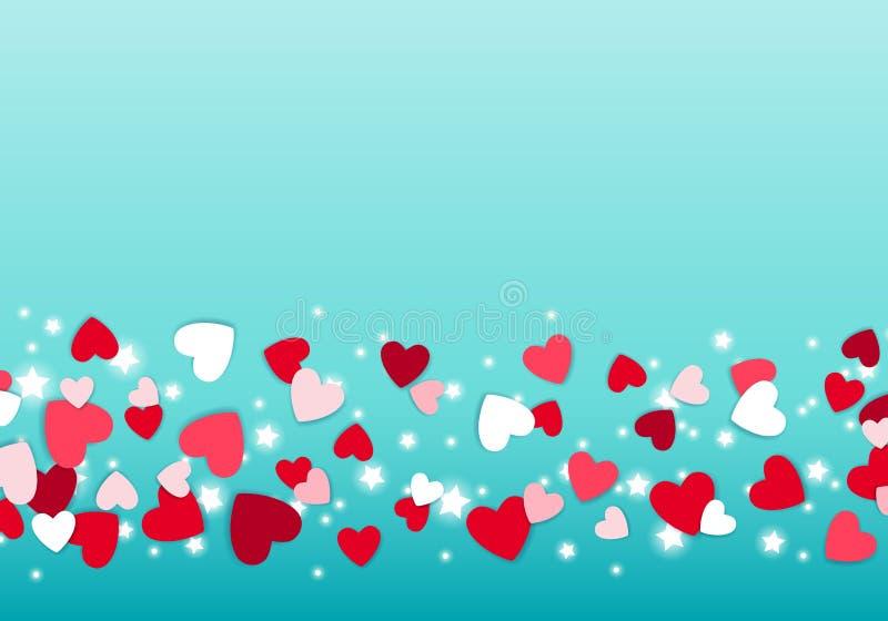 疏散红色和桃红色心脏背景 皇族释放例证