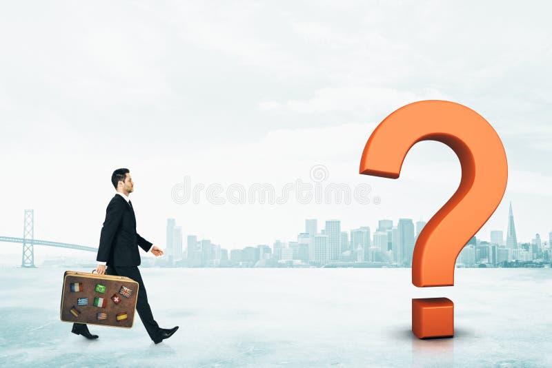 疑义和旅行概念 免版税库存图片