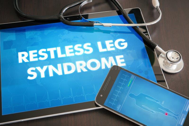 医疗不安定的腿综合症状(神经混乱)的诊断 库存照片