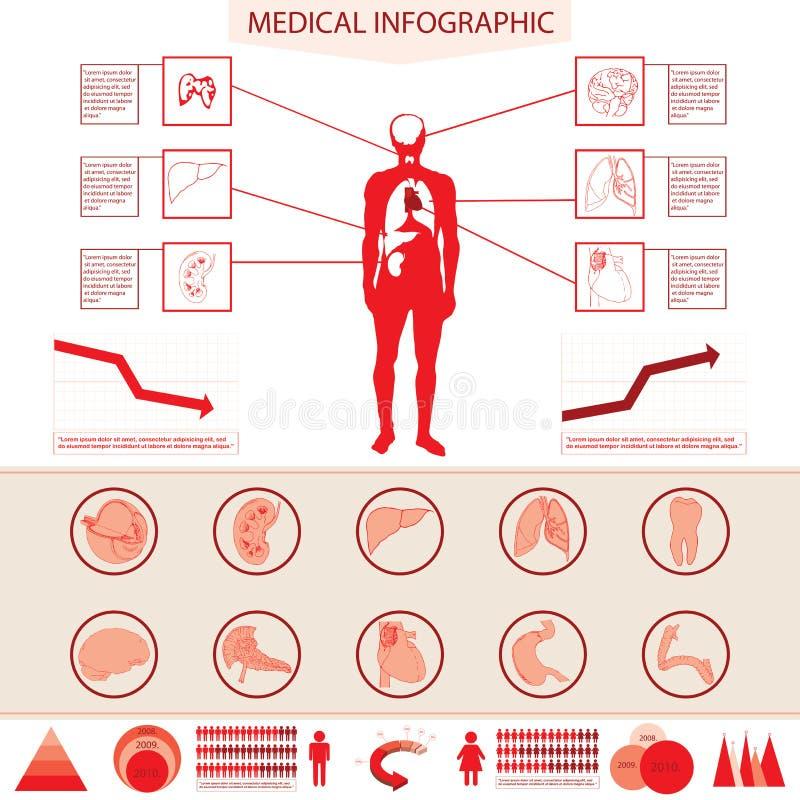 医疗信息图表。 库存例证