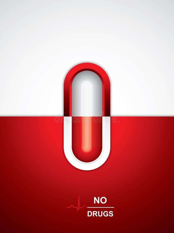 医疗反背景的药物 向量例证