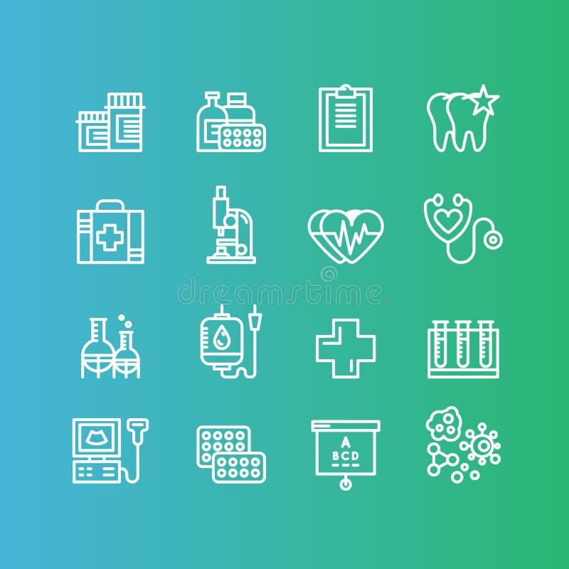 医疗和健康保健研究项目,保险, MRI,扫描,核对形式,血液测试 库存例证