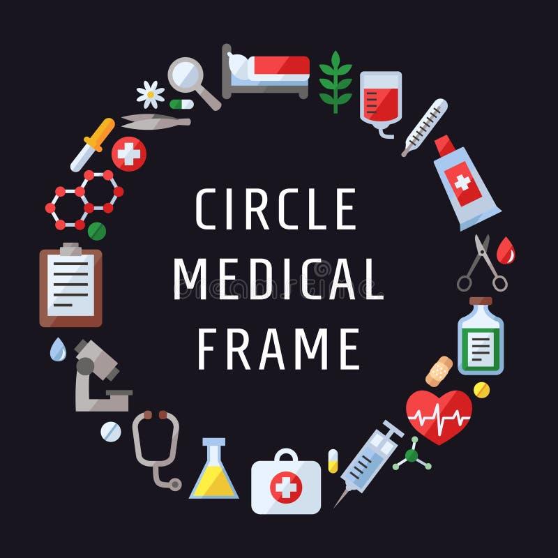 医疗和科学传染媒介框架 现代平的设计 皇族释放例证
