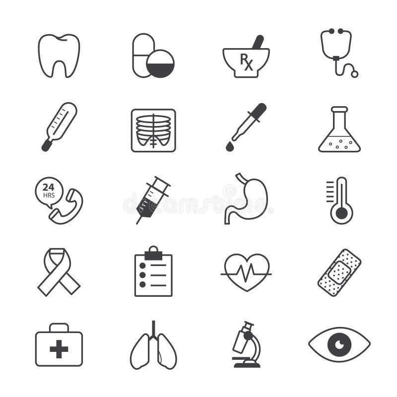 医疗和医疗保健象线 向量例证