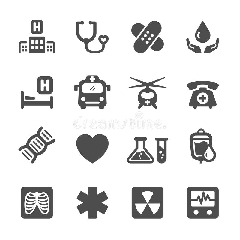 医疗和医院象设置了7,传染媒介eps10 向量例证