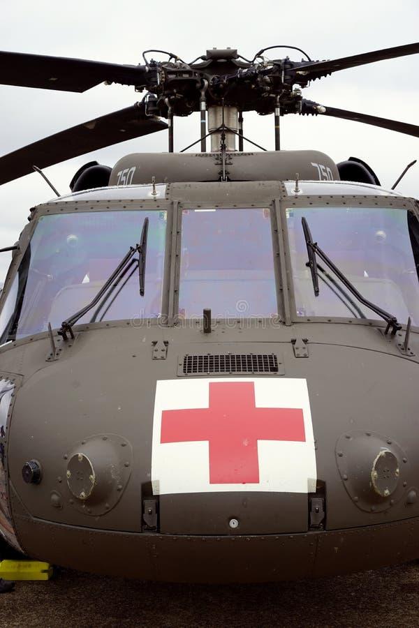 医疗撤离直升机 免版税库存照片