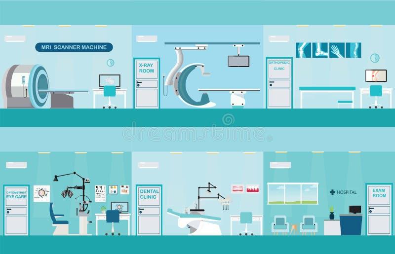 医疗服务信息图表  库存例证