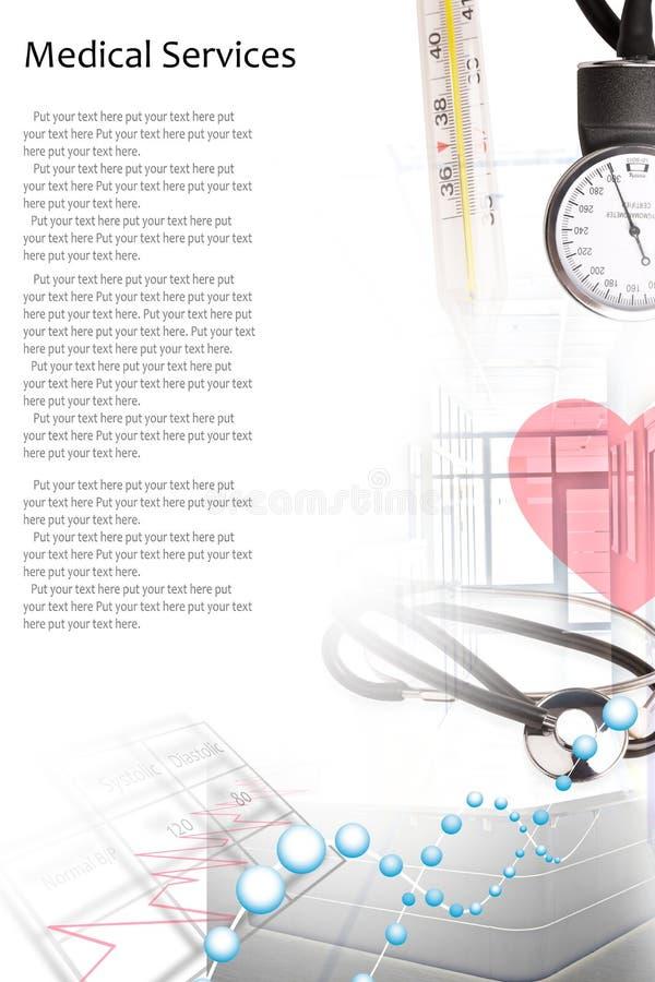 医疗服务照片拼贴画 库存图片