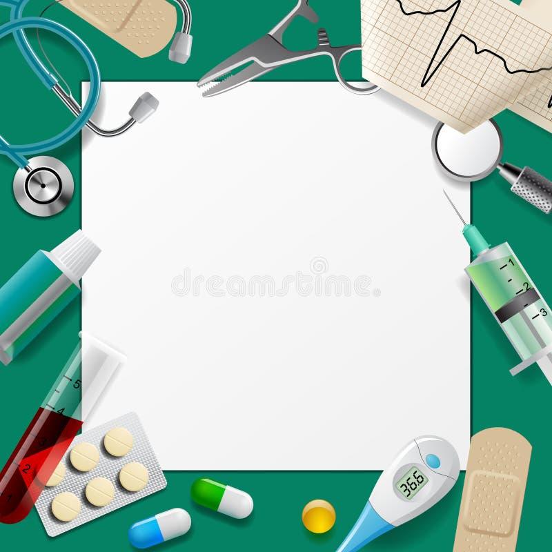 医疗模板和框架用医学设备 库存例证