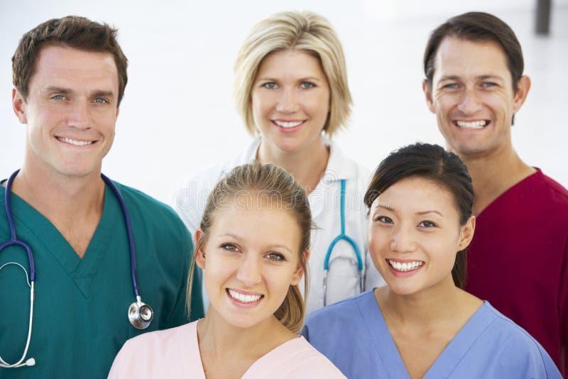 医疗纵向小组 免版税库存图片