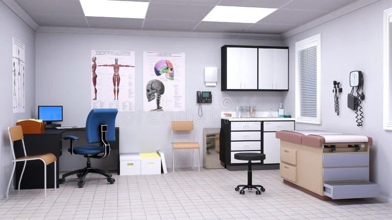 医疗考试住院医生室 向量例证
