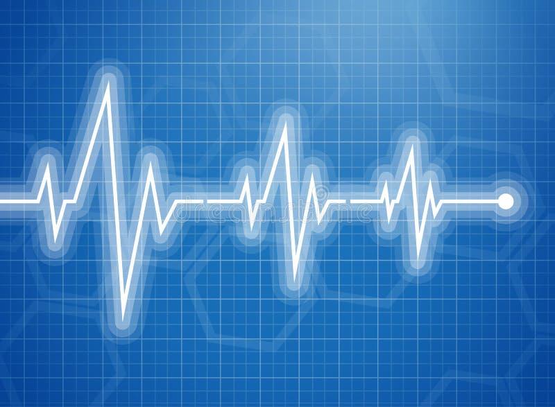 download 医疗设计-心电图 向量例证.