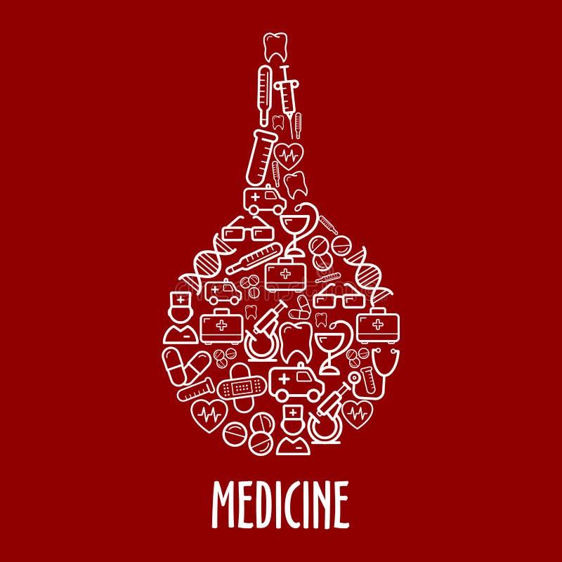 医疗象在灌肠形状安排  库存例证