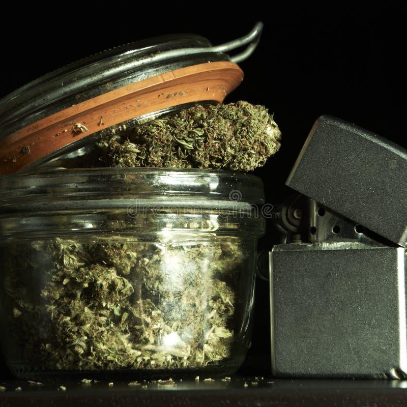 医疗&消遣大麻 免版税库存图片