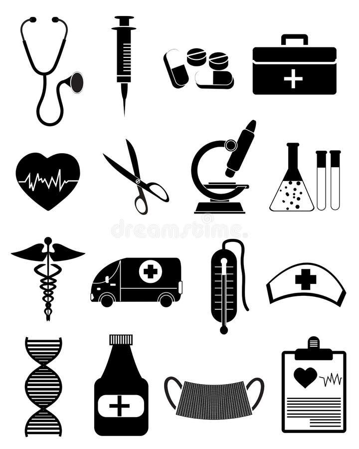 医疗医疗保健的图标 库存例证
