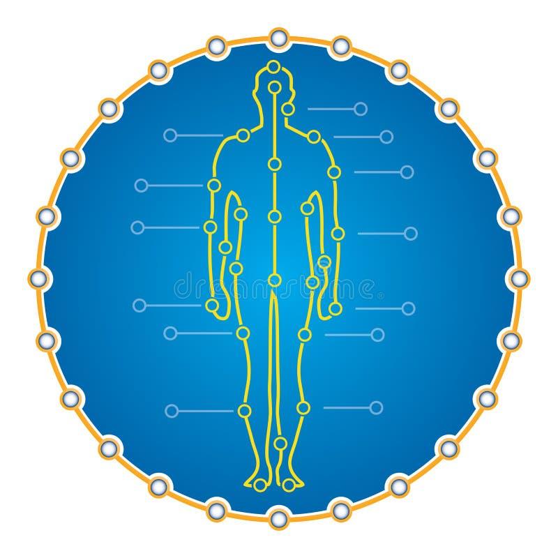医疗介绍的抽象人体 库存例证