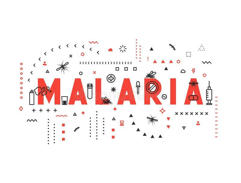 疟疾设计观念流行病  向量例证