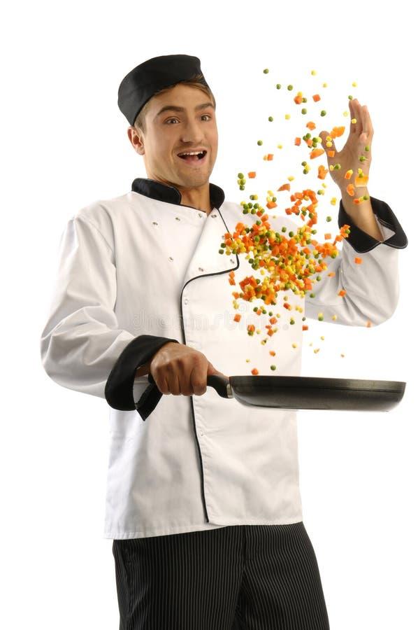 疯狂的主厨 免版税库存照片