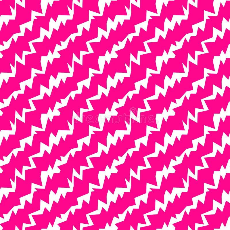 疯狂的之字形变粉红色无缝的样式 皇族释放例证