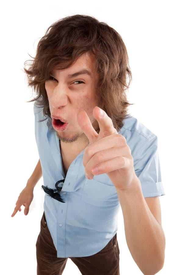 疯狂的人年轻人 免版税库存图片