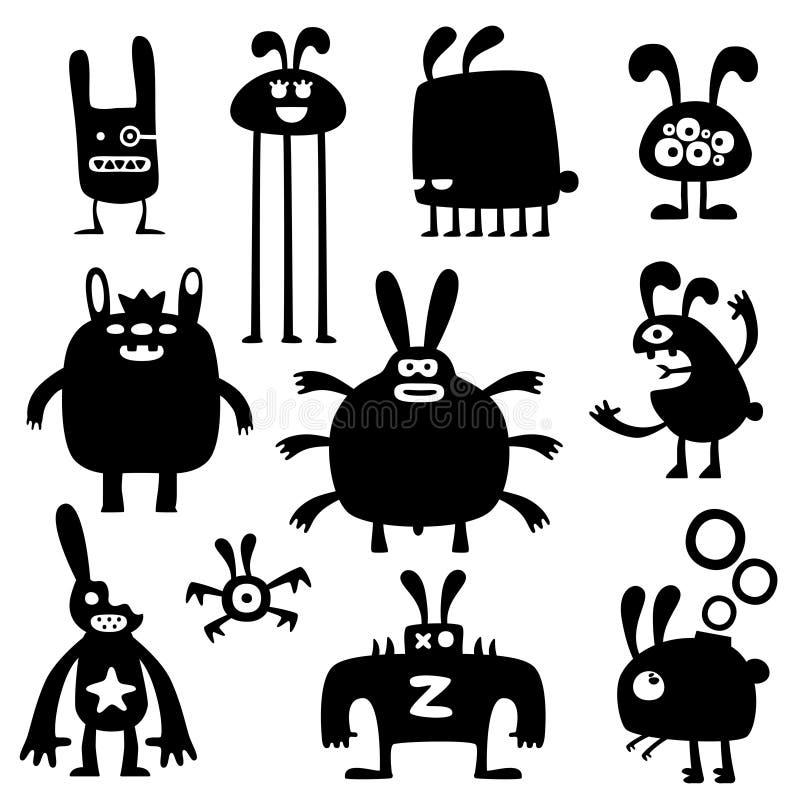 疯狂的兔子set03 向量例证