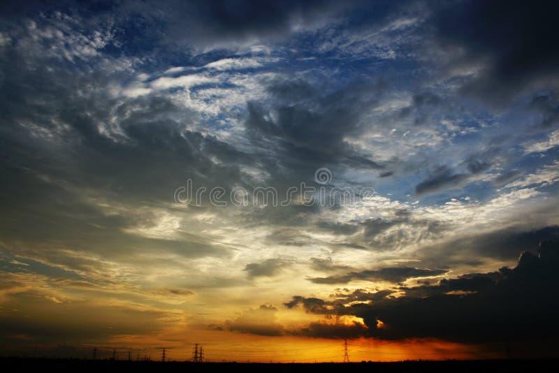 疯狂的天空 库存照片