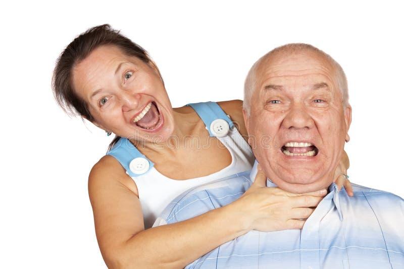 疯狂的夫妇 免版税库存图片