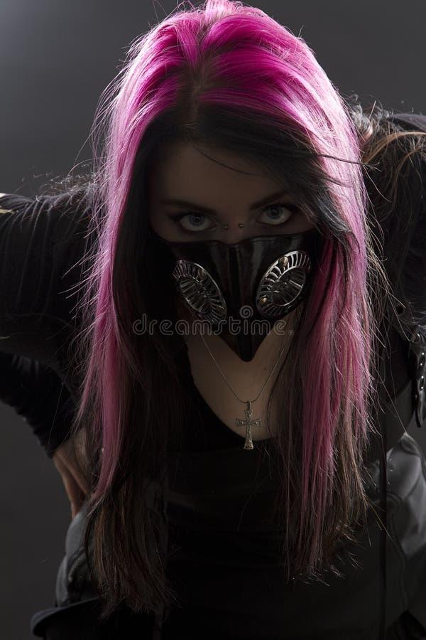 疯狂的女孩goth 库存照片