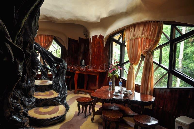 疯狂的家的旅馆在大叻 免版税库存图片