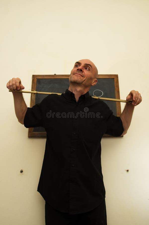 疯狂的教师 免版税库存图片