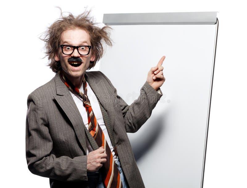 疯狂的教授 免版税图库摄影