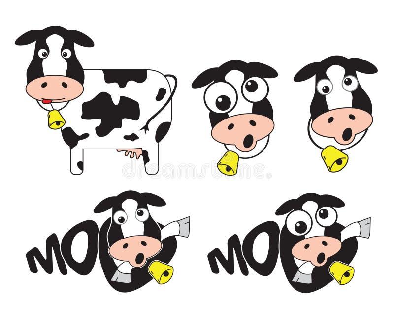 疯狂的母牛 库存例证