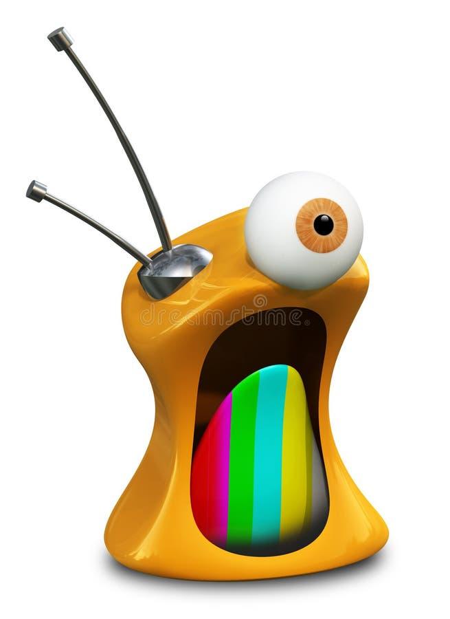 Download 疯狂的电视 库存例证. 插画 包括有 火熊熊, 电视, 复兴, 灰色, 过去, 字符, 空白, 疯子, 仪器 - 15683180