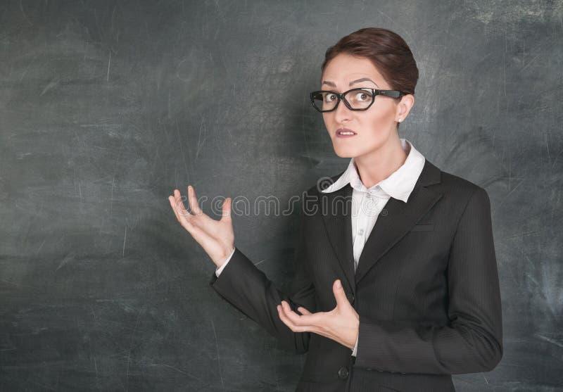 疯狂的老师 库存照片