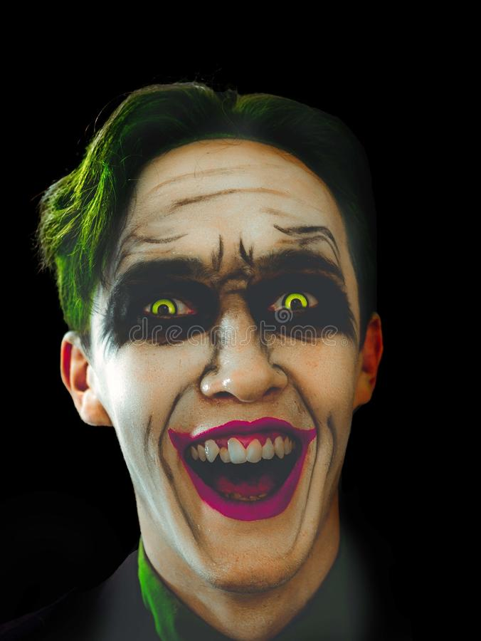 疯狂的说笑话者面孔 库存图片