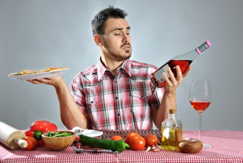 疯狂的饥饿的食人的薄饼 免版税图库摄影