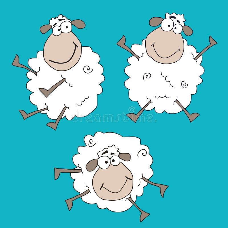 疯狂的绵羊 库存图片