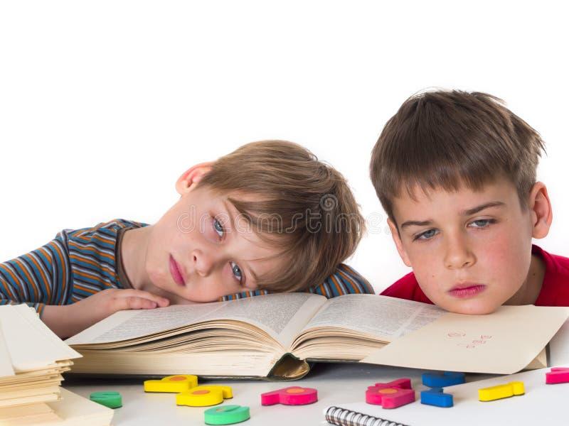 疲乏的学生 免版税库存照片